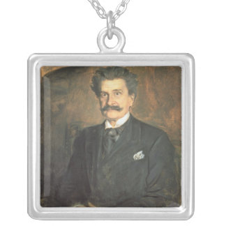 Johann Strauss the Younger, 1895 Silver Plated Necklace