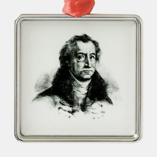 Johann Wolfgang Goethe  engraved by Delacroix Christmas Ornament