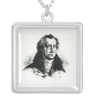 Johann Wolfgang Goethe  engraved by Delacroix Silver Plated Necklace