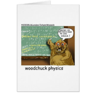 johann_woodchuck greeting card