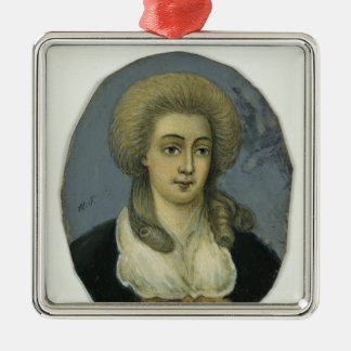 Johanna Elisabeth Mencken Silver-Colored Square Decoration