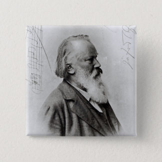 Johannes Brahms 15 Cm Square Badge