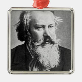 Johannes Brahms, 1879 Silver-Colored Square Decoration