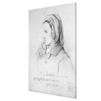 Johannes Brahms  aged twenty, 1853 Canvas Print