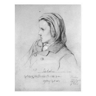 Johannes Brahms  aged twenty, 1853 Postcard