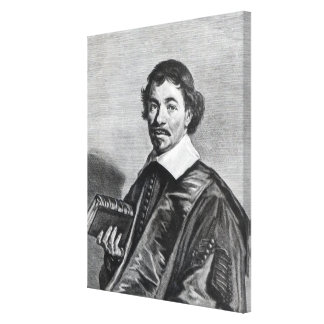 Johannes Hoornbeek, engraved by Jonas Canvas Print