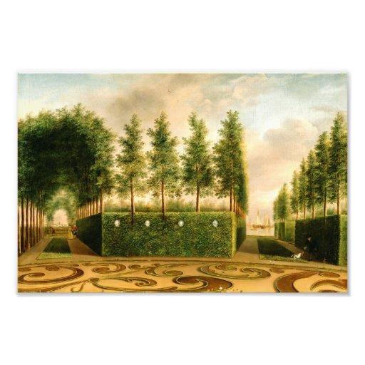 Johannes Janson A Formal Garden Vintage Painting Photographic Print