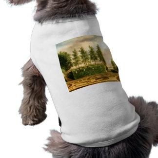 Johannes Janson A Formal Garden Vintage Painting Sleeveless Dog Shirt
