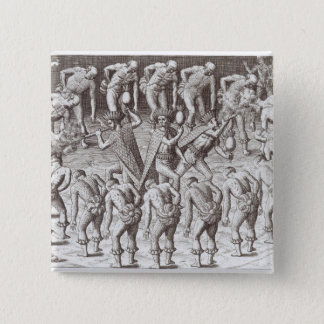 Johannes Lerii's Account of the Caraibe Indians 15 Cm Square Badge