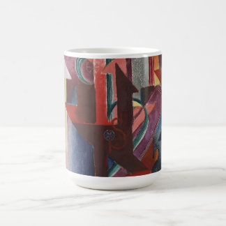 Johannes Molzahn - Another Station - Futurist Art Basic White Mug