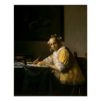 Johannes Vermeer, A Lady Writing a Letter Poster