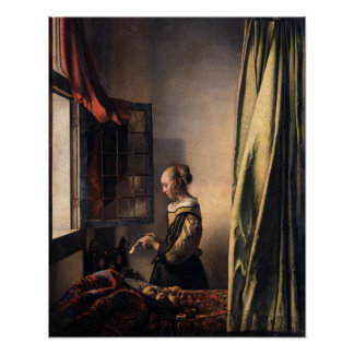 Johannes Vermeer, Girl Reading a Letter Poster