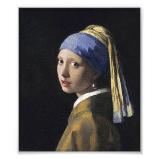 Johannes Vermeer - Girl with a Pearl Earring Art Photo