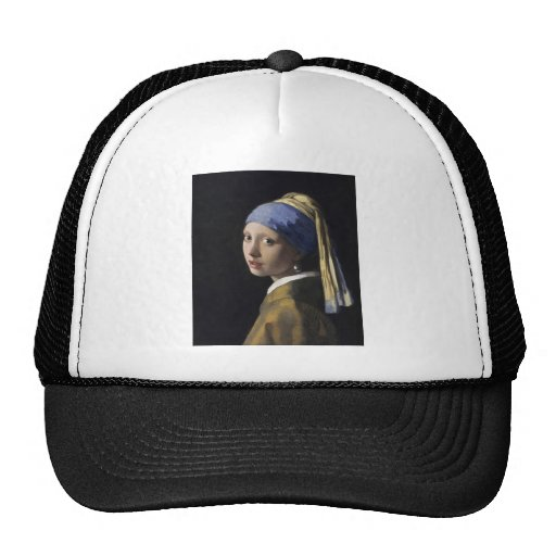 Johannes Vermeer - Girl with a Pearl Earring Mesh Hats