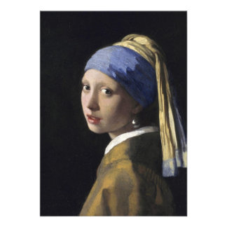 Johannes Vermeer - Girl with a Pearl Earring Custom Announcement