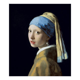 Johannes Vermeer Girl with a Pearl Earring Poster