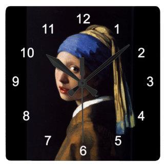 "Johannes Vermeer, ""Girl with a Pearl Earring"" Wallclocks"