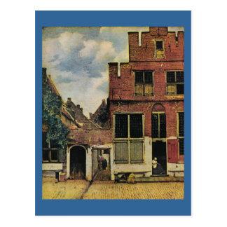 Johannes Vermeer s Street in Delft circa 1660 Postcard