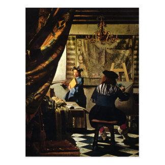 Johannes Vermeer s The Art of Painting circa 1668 Postcard
