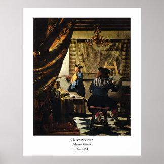 Johannes Vermeer s The Art of Painting circa 1668 Print