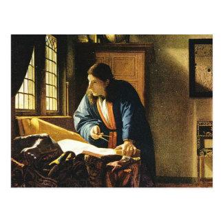 Johannes Vermeer s The Geographer circa 1669 Postcards