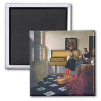 Johannes Vermeer s The Music Lesson circa1663 Fridge Magnet