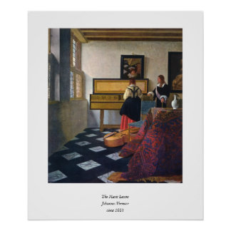 Johannes Vermeer s The Music Lesson circa1663 Posters