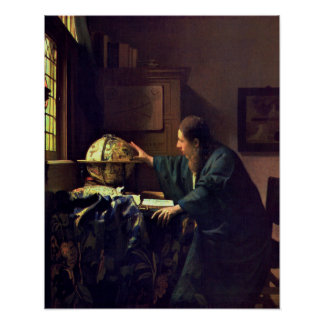 Johannes Vermeer, The Astronomer Poster