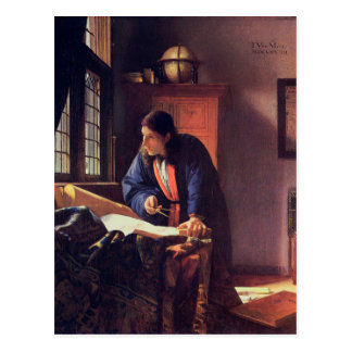 Johannes Vermeer - The Geographer Postcard