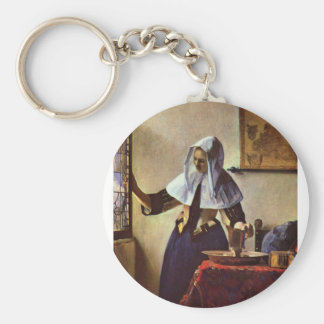 Johannes Vermeer - Young woman with a water jug at Keychains