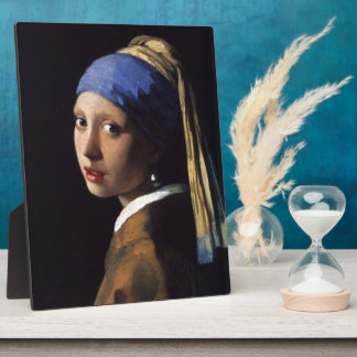 Johannes Vermeer's Girl with a Pearl Earring Photo Plaque