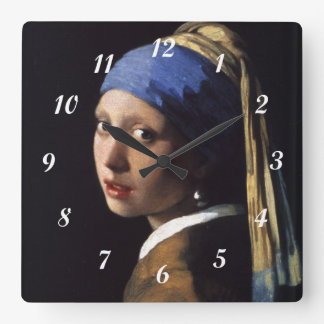 Johannes Vermeer's Girl with a Pearl Earring Wallclock