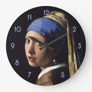 Johannes Vermeer's Girl with a Pearl Earring Wallclocks