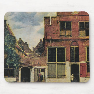 Johannes Vermeer's Street in Delft (circa 1660) Mouse Mat