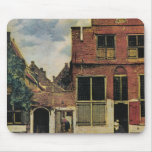 Johannes Vermeer's Street in Delft (circa 1660) Mouse Pad
