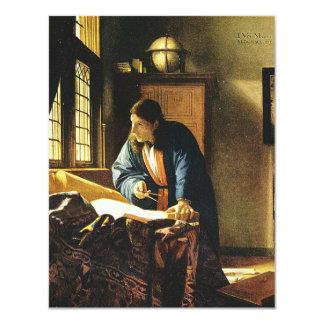 Johannes Vermeer's The Geographer (circa 1669) 11 Cm X 14 Cm Invitation Card