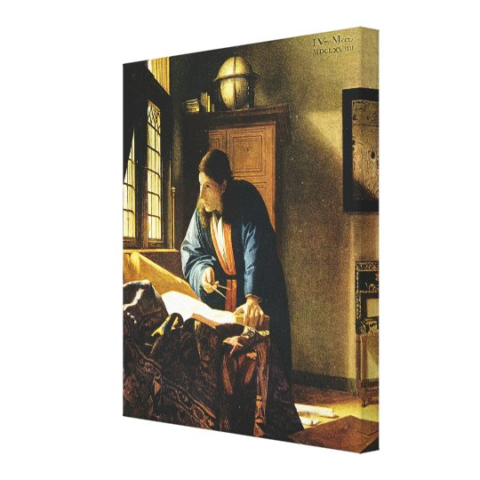 Johannes Vermeer's The Geographer (circa 1669) Canvas Print