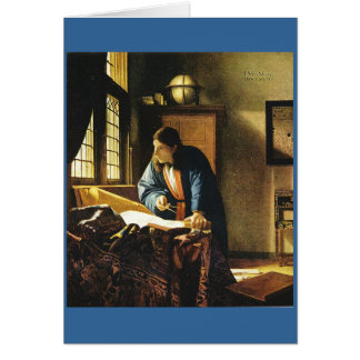 Johannes Vermeer's The Geographer (circa 1669) Card