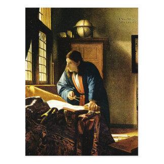 Johannes Vermeer's The Geographer (circa 1669) Postcard