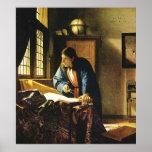 Johannes Vermeer's The Geographer (circa 1669) Poster