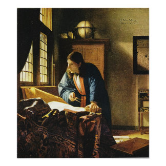 Johannes Vermeer's The Geographer (circa 1669) Print
