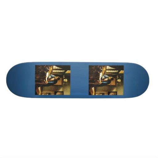 Johannes Vermeer's The Geographer (circa 1669) Skateboards