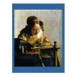 Johannes Vermeer's The Lacemaker (circa 1670)