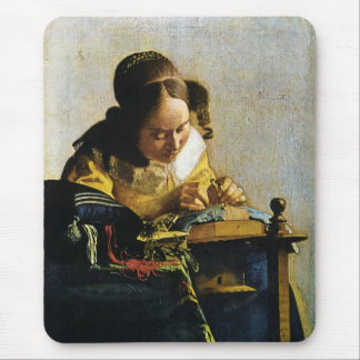 Johannes Vermeer's The Lacemaker (circa 1670) Mouse Mat