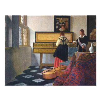 Johannes Vermeer's The Music Lesson (circa1663) 11 Cm X 14 Cm Invitation Card