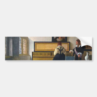 Johannes Vermeer's The Music Lesson (circa1663) Bumper Sticker