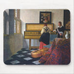 Johannes Vermeer's The Music Lesson (circa1663) Mouse Mat