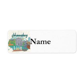 Johannesburg Return Address Label