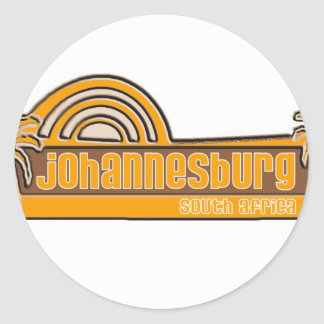 Johannesburg, South Africa Classic Round Sticker