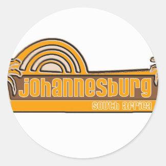 Johannesburg, South Africa Round Sticker